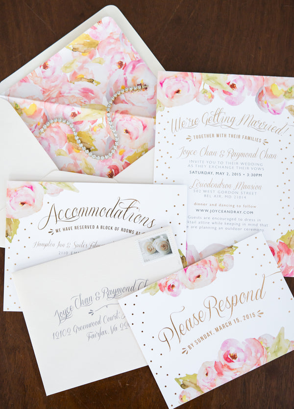 Invitations | Opulent Mansion Wedding | Daisy Saulls Photography