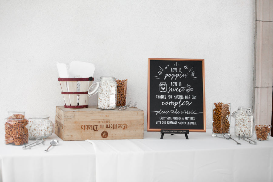Popcorn Bar | Opulent Mansion Wedding | Daisy Saulls Photography
