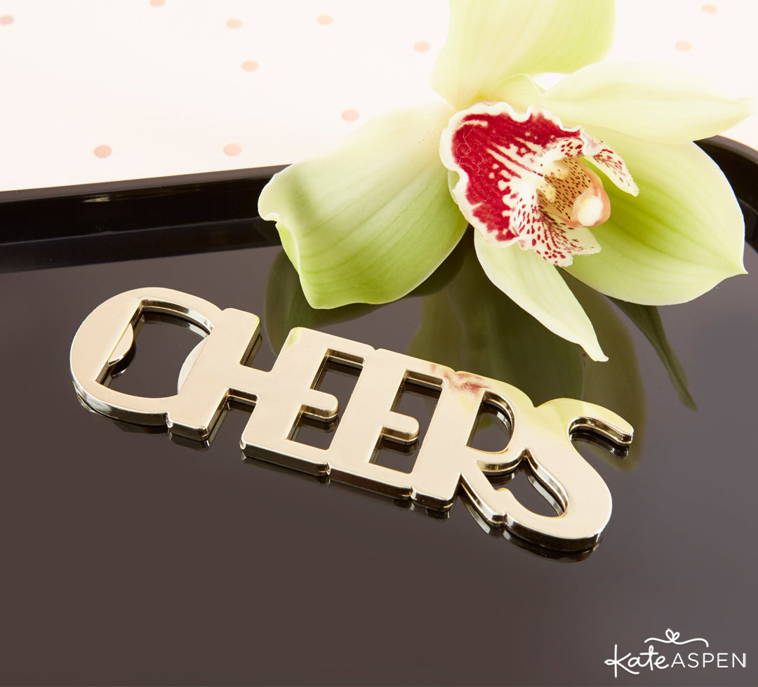 Cheers Bottle Opener | The Perfect Birthday Party For Her | Kate Aspen