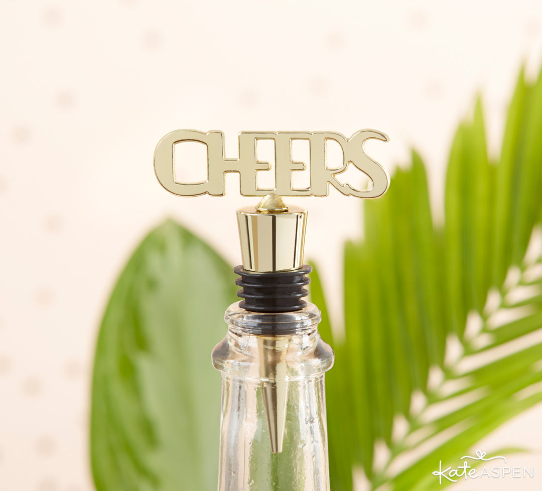 Cheers Bottle Stopper | The Perfect Birthday Party For Her | Kate Aspen