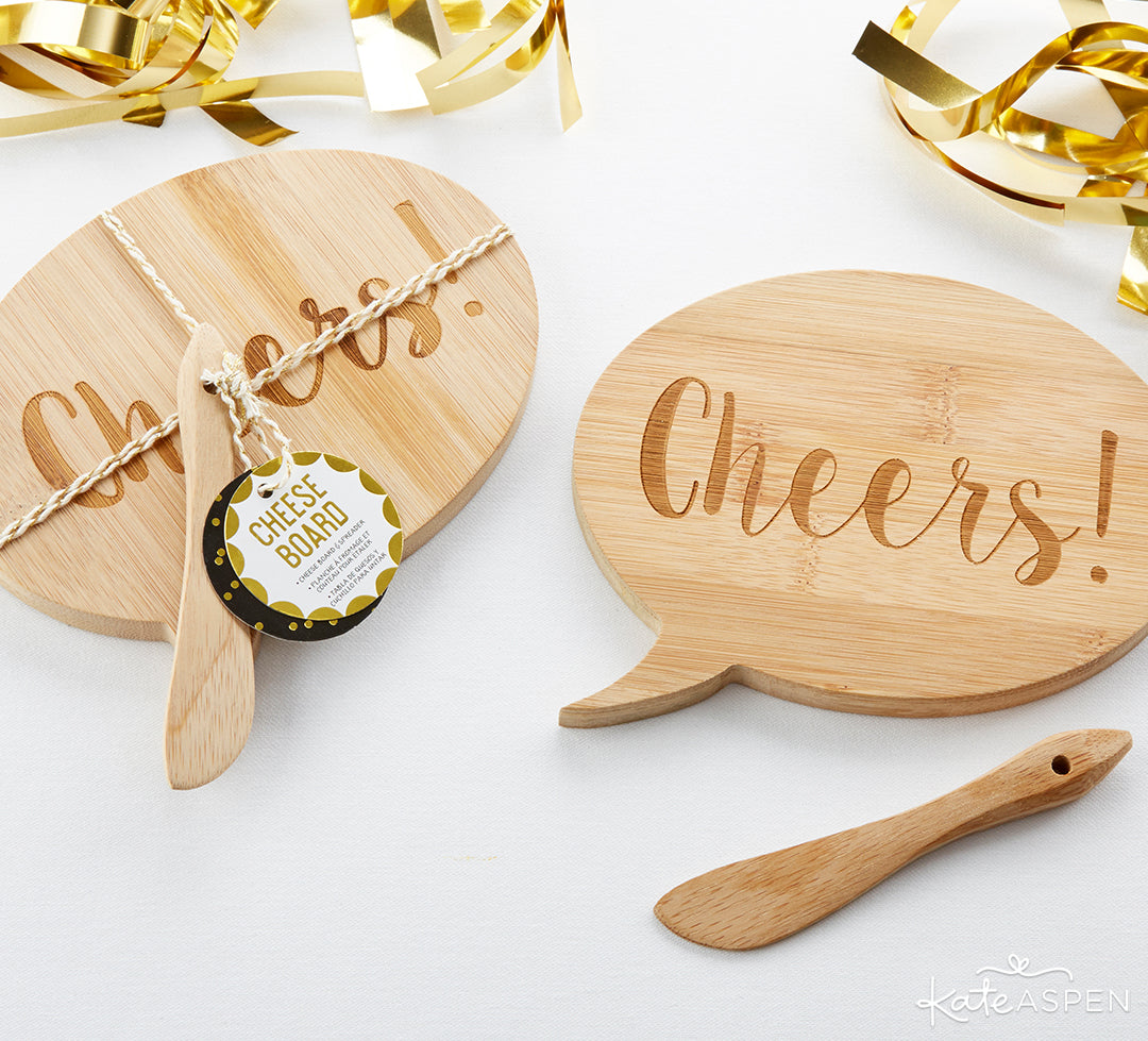 Cheers Cheese Board | A Stocking Stuffer Holiday Gift Guide | Kate Aspen