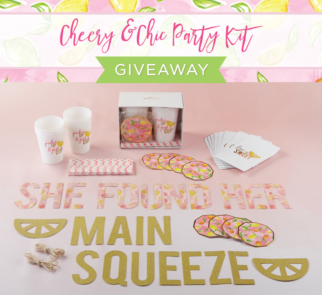 Cheery & Chic Party Kit Giveaway | Kate Aspen