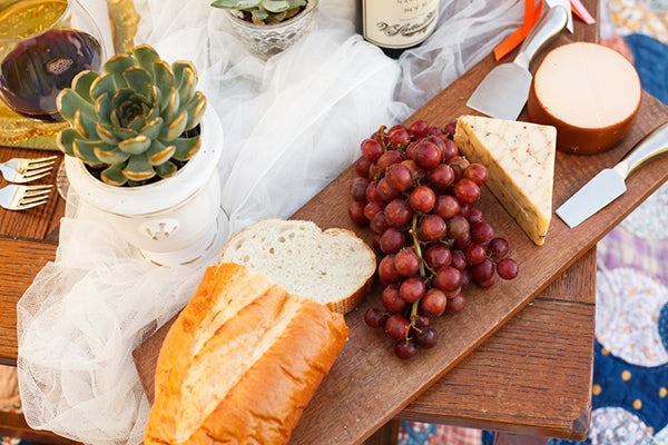 Cheese Platter on Table | Rebecca Anne Photography