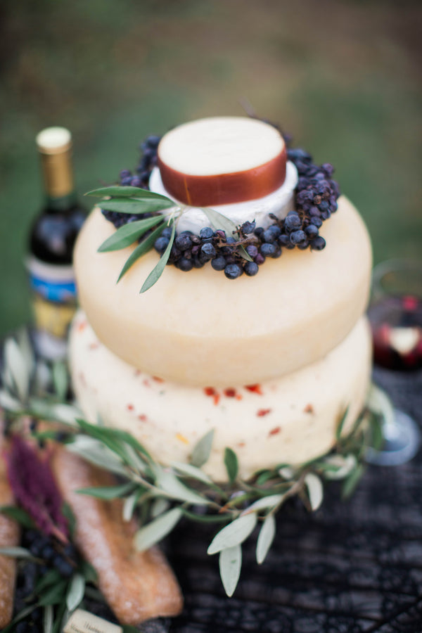 Layered Cheese Wedding Cake | Wine Inspired Fall Wedding | Brooke Ellen Photography