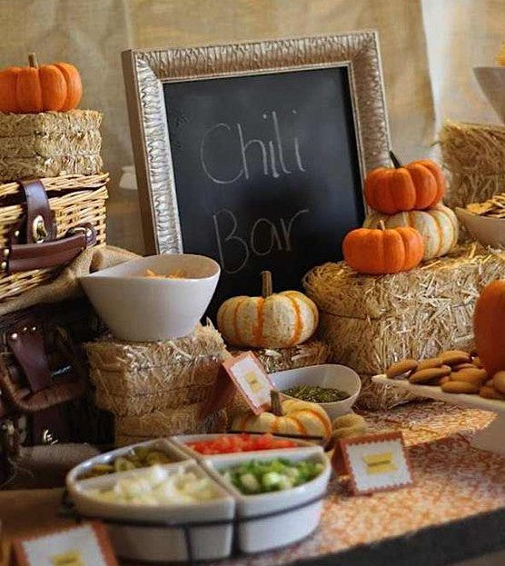 Chili Bar | Wonderfully Made Events via Kara's Party Ideas | 7 Festive Fall Party Ideas | Kate Aspen