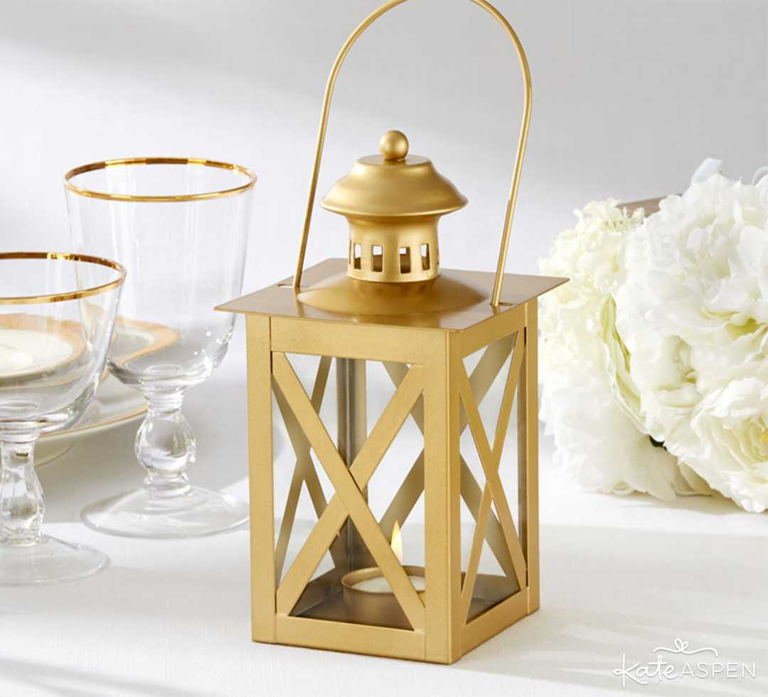 Classic Gold Lantern | 6 Ways to Light Up Your Night With Lanterns | Kate Aspen