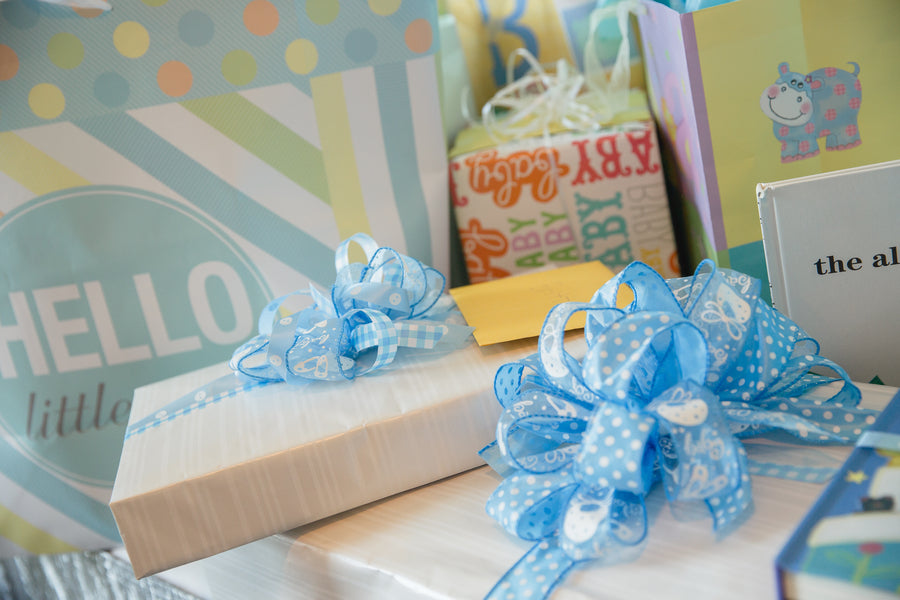 Close Up Of Presents | An Up Up & Away Baby Shower | Kate Aspen