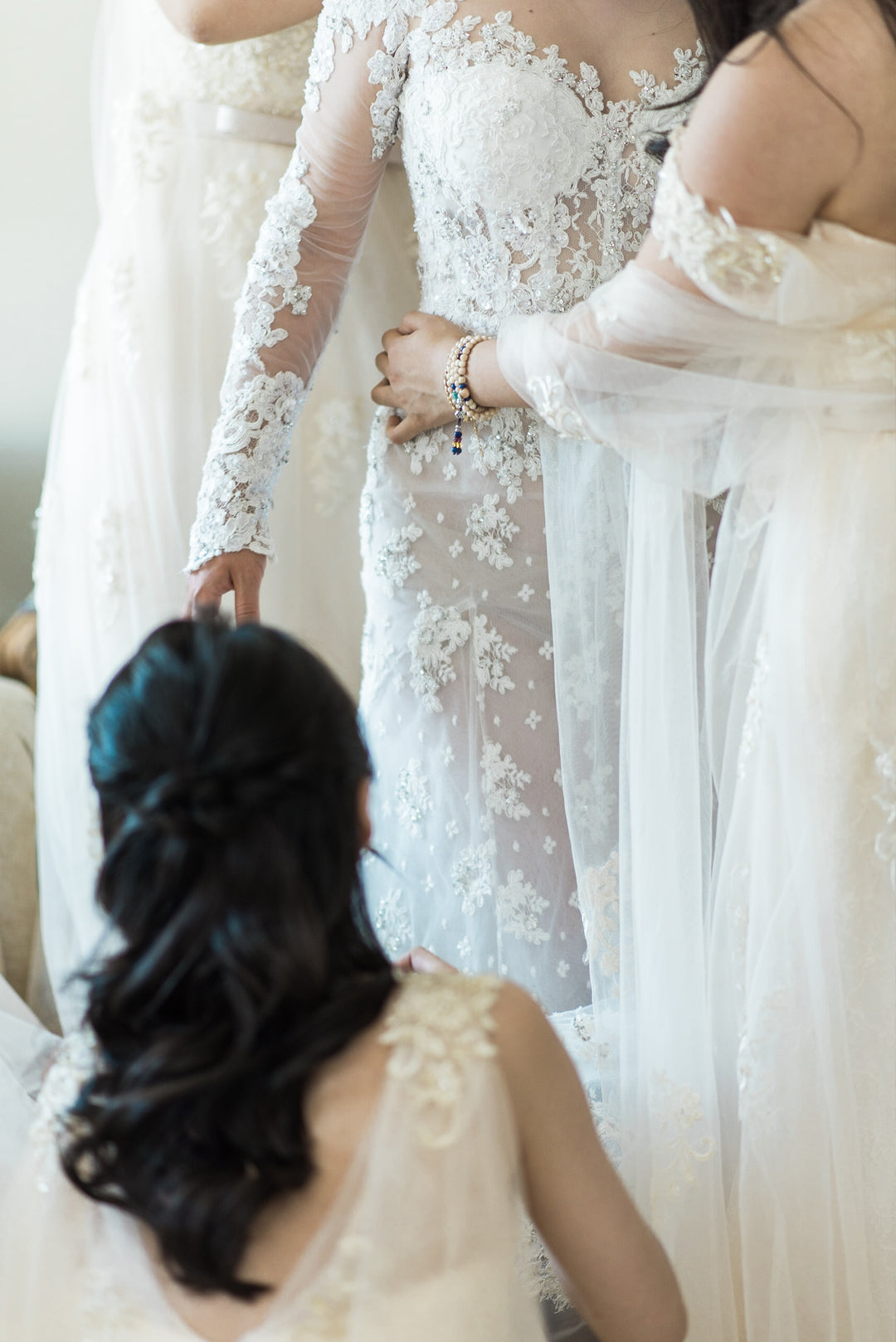 Close Up of Brides Dress | A Grand Wedding On The Water | Kate Aspen