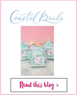 Coastal Bride - Tea Pot Favor Box