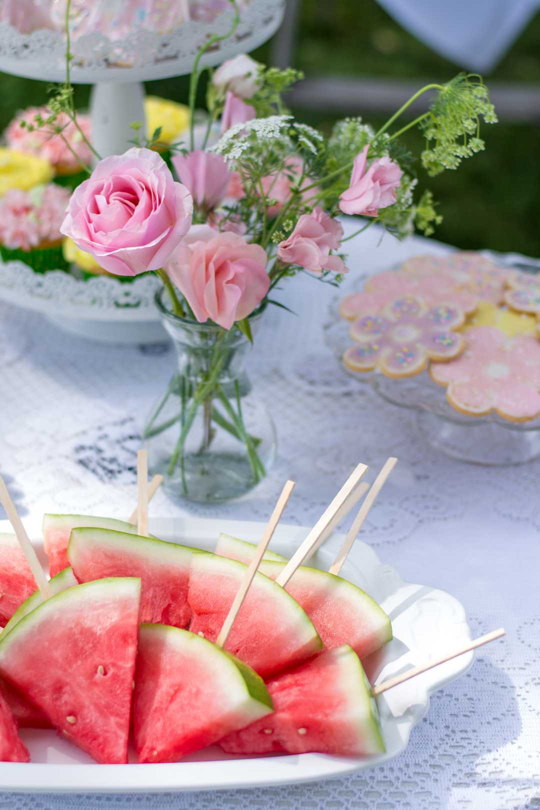 Food Table | A Lovely Garden Birthday Party | Kate Aspen
