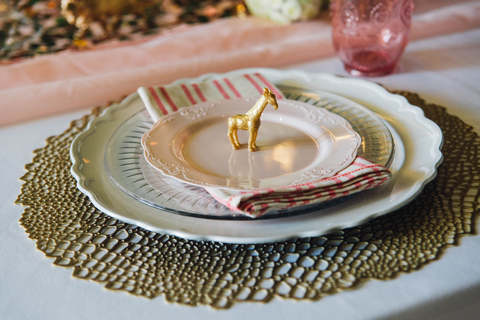Baby Shower Place Setting | A Luxe Circus Baby Shower | Kate Aspen