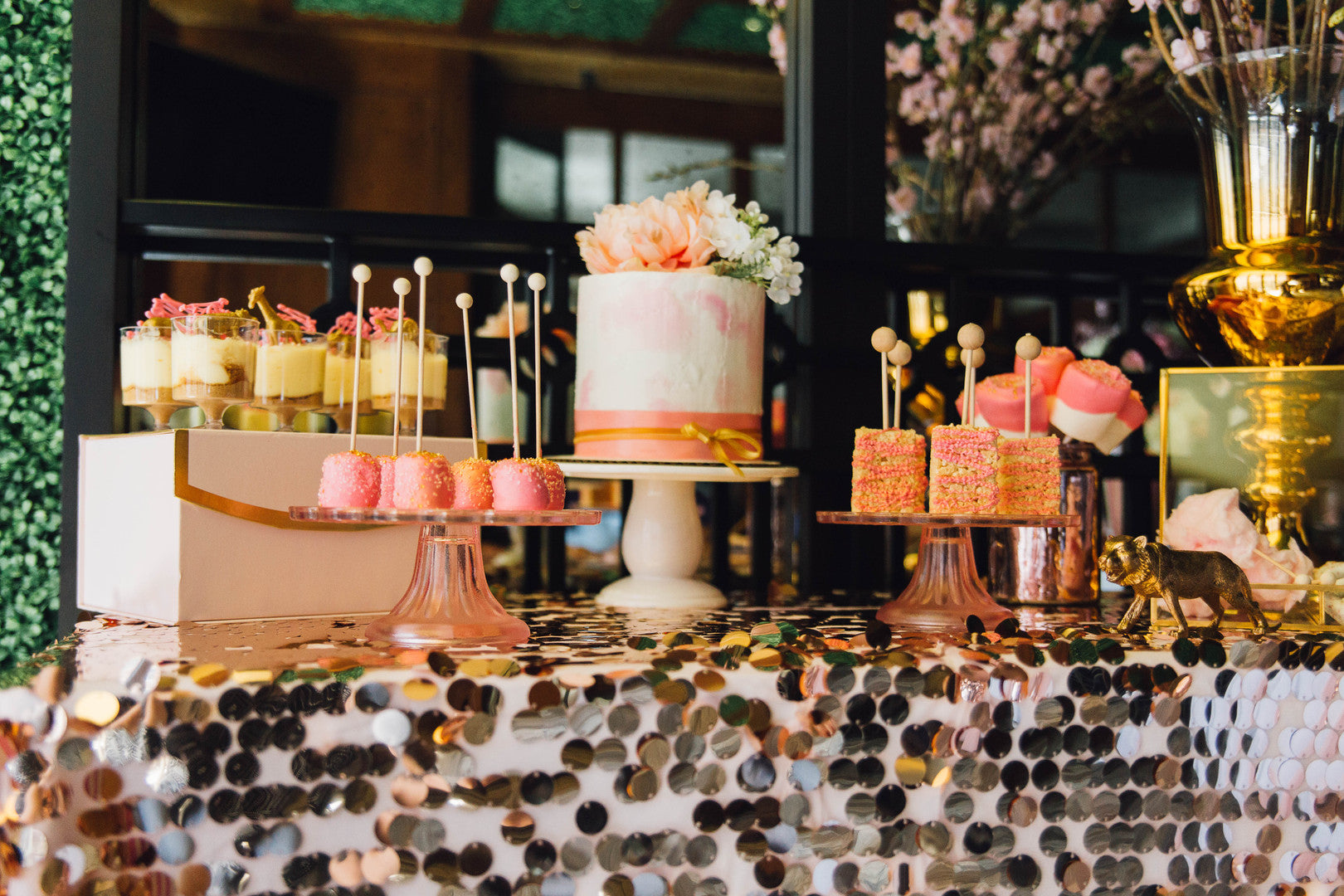 Dessert Table With Cake Pops | A Luxe Circus Baby Shower | Kate Aspen