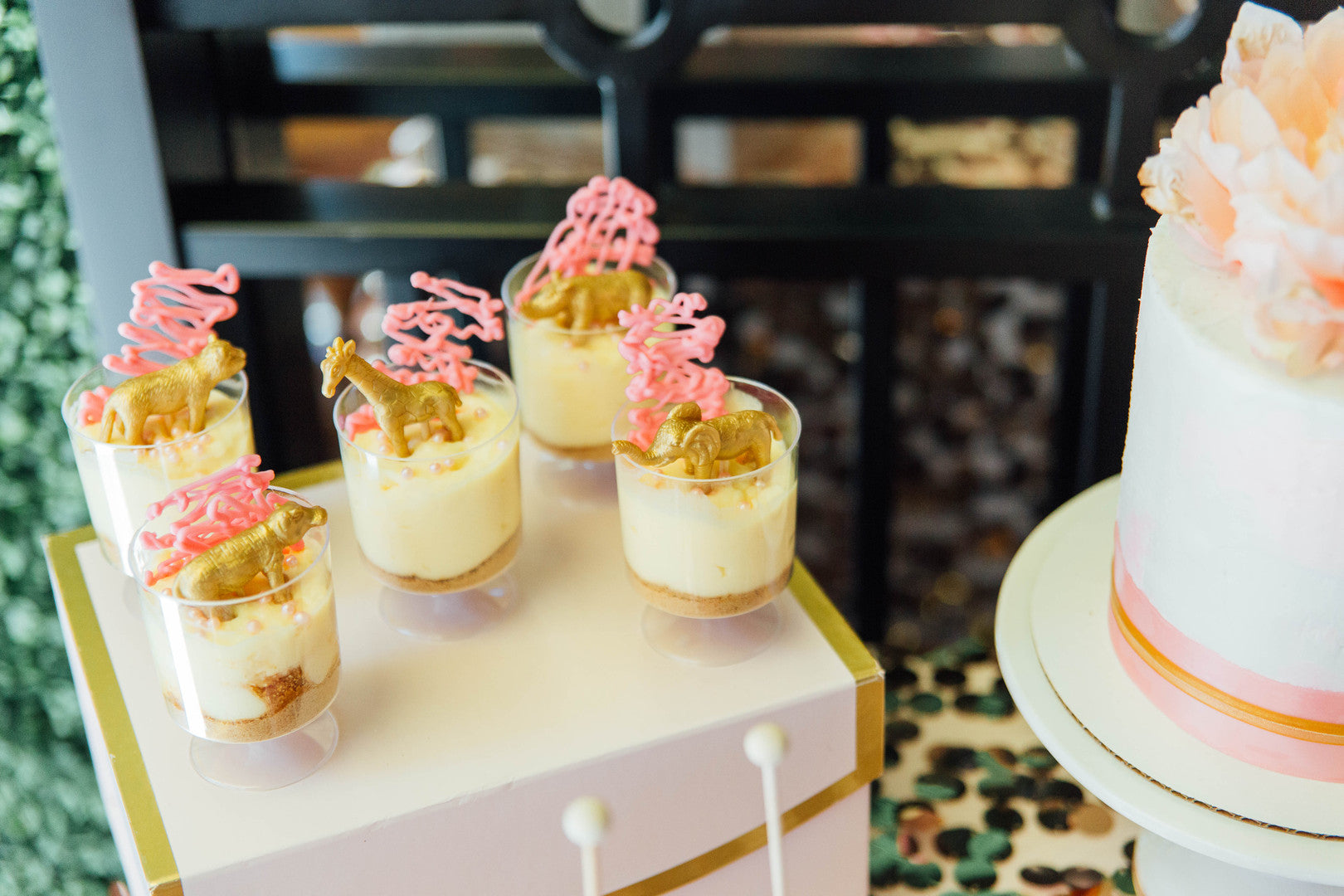 Circus Themed Banana Pudding | A Luxe Circus Baby Shower | Kate Aspen