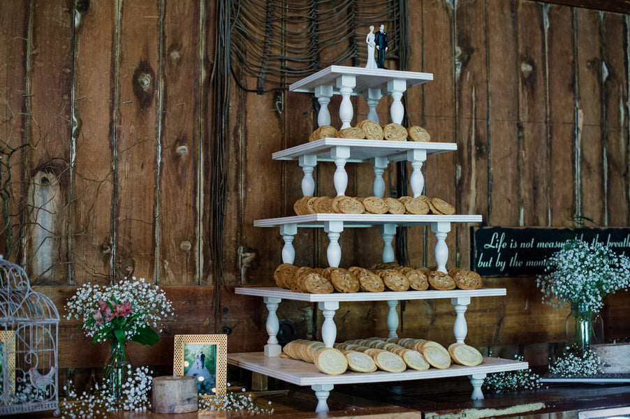 Tiered Cookie Display  | Spring Rustic Barn Wedding | Time Into Pixels Photography