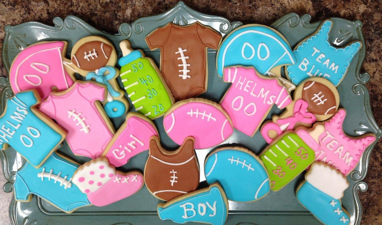 Cookies | A Football Themed Gender Reveal | Kate Aspen
