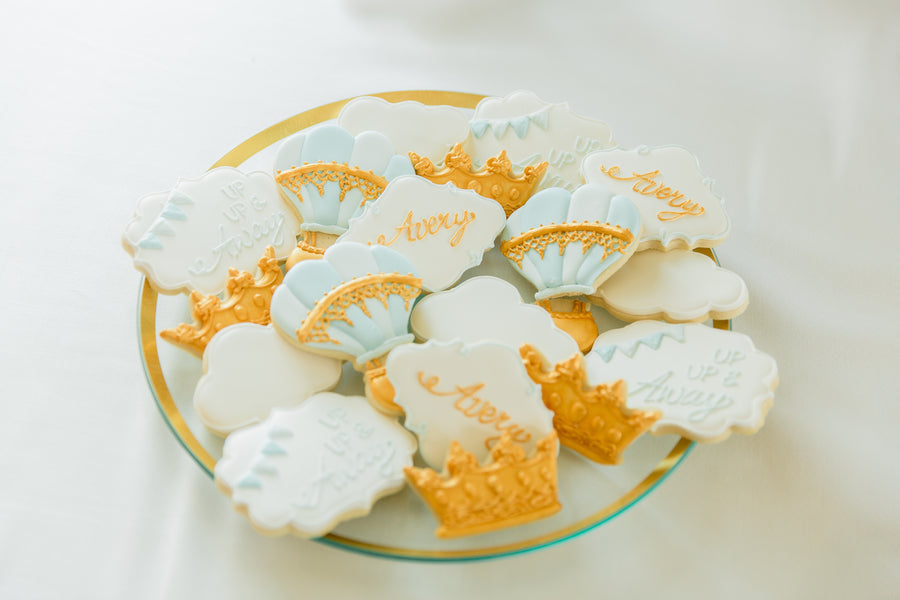 Cookies | An Up Up & Away Baby Shower | Kate Aspen