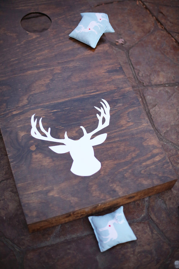 Cornhole | ImpressionsPhotography | A Flannel Filled Fall Wedding | Kate Aspen