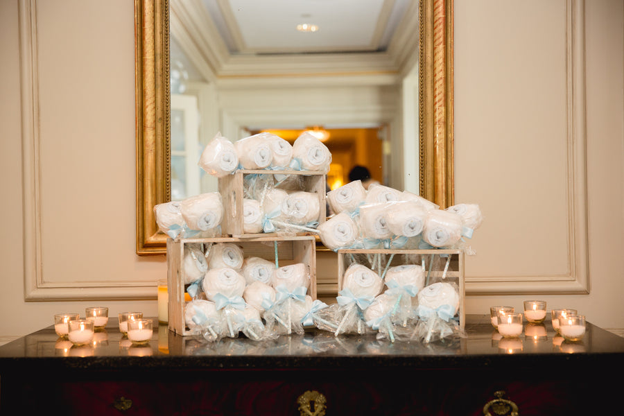 Cotton Candy Favors | An Up Up & Away Baby Shower | Kate Aspen