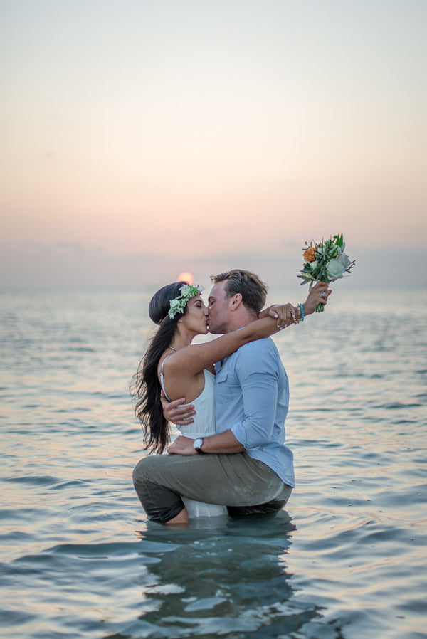 Couple Kissing in Ocean | 5 Unique and Adorable Engagements | Kate Aspen