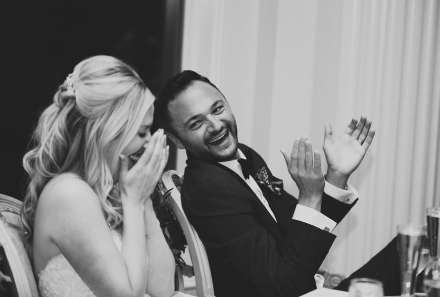 Couple Laughing | New England Wedding | Laura Dee Photography