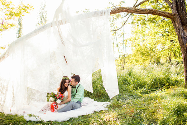 Bride and Groom Under Tree | Rebecca Anne Photography