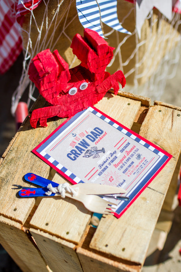 CrawDad Cookout Father's Day Party Invitation | Megan Long Photography