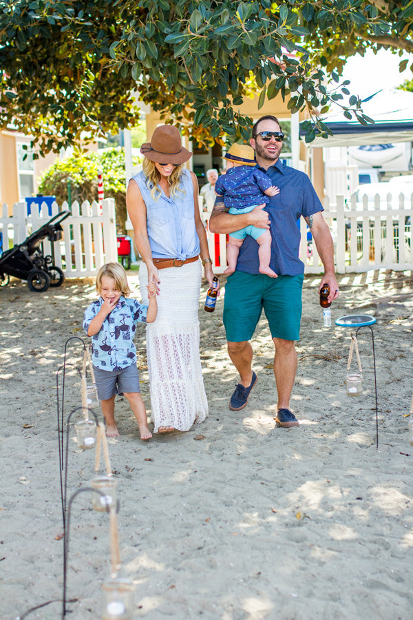 CrawDad Father's Day Cookout on the Beach | Megan Long Photography
