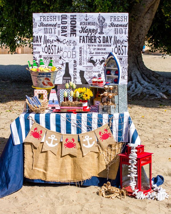 CrawDad Cookout Red White and Blue Dessert Display | Megan Long Photography