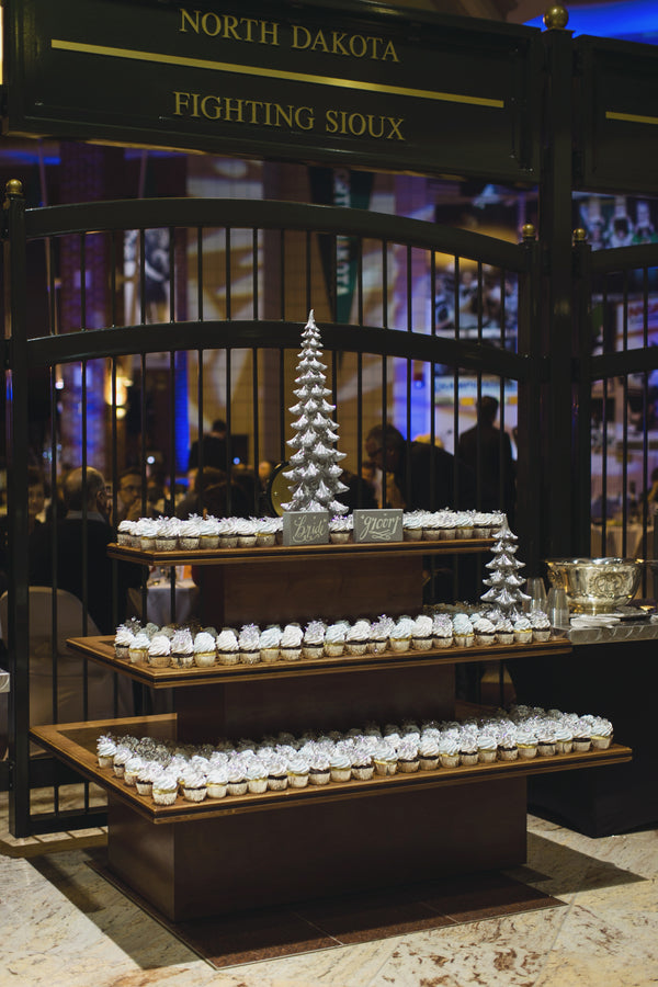 Cupcake Display | A Sparking Winter Wedding | Dana Widman Photography | Kate Aspen