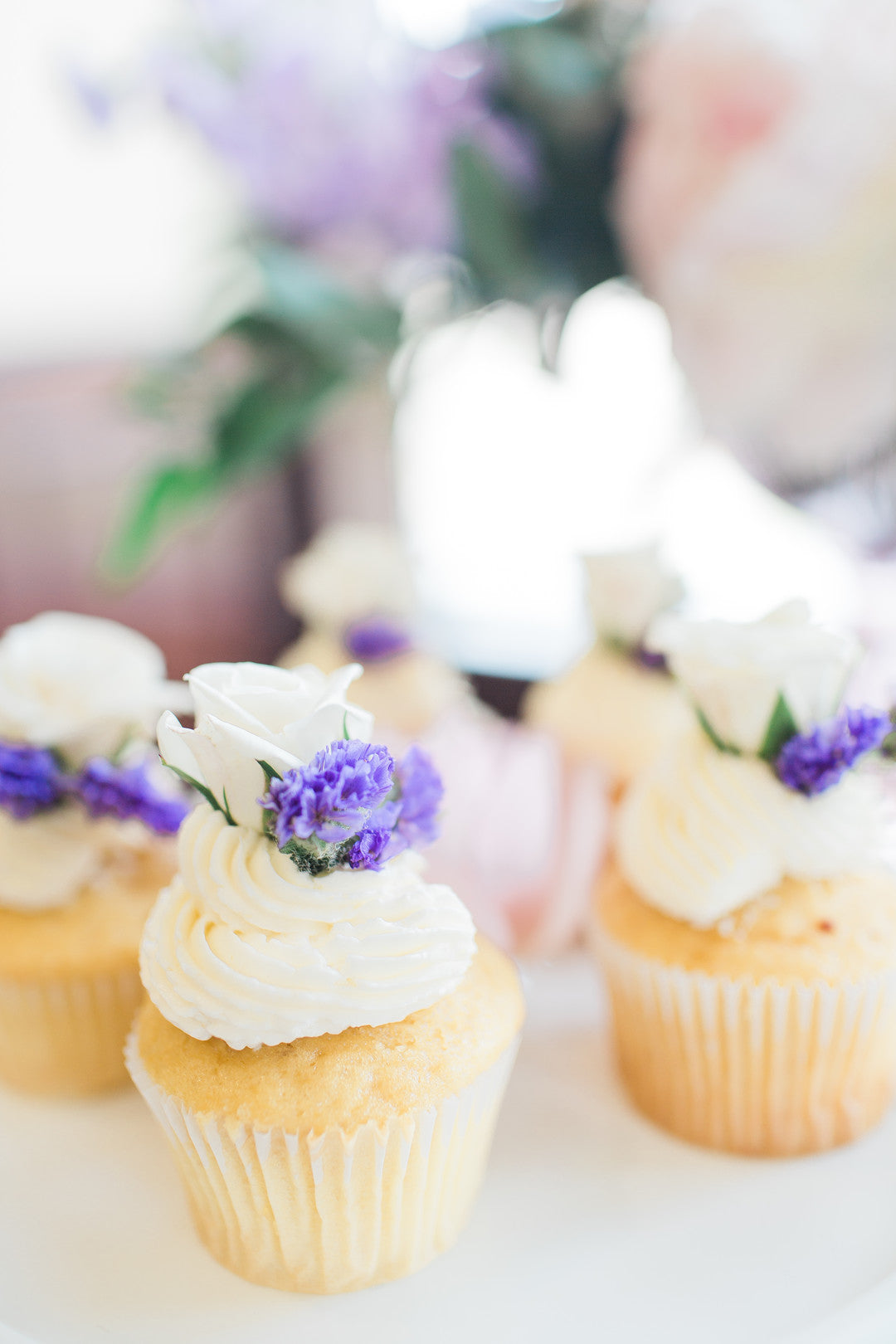 Cupcakes | Tips For the Perfect Floral Bridal Shower | Kate Aspen