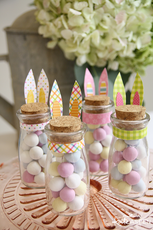 DIY Easter Bunny Ears Milk Jar - Kate Aspen