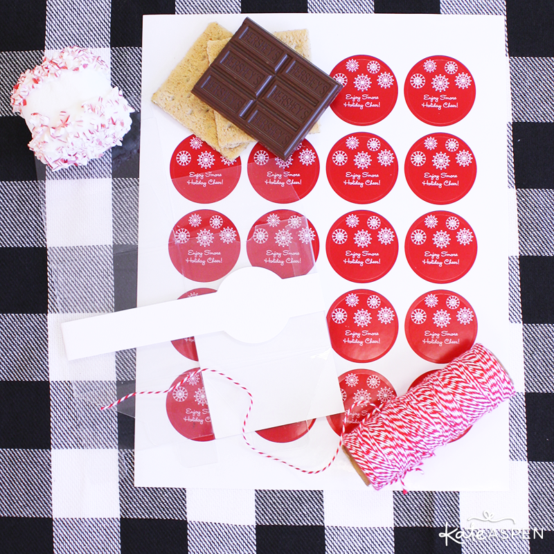 Supplies for DIY Peppermint Smores Favors | @kateaspen | KateAspen.com
