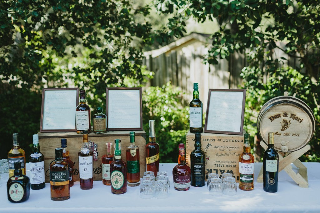 Kari and Dan Wedding Bourbon Bar - Wylie Weddings