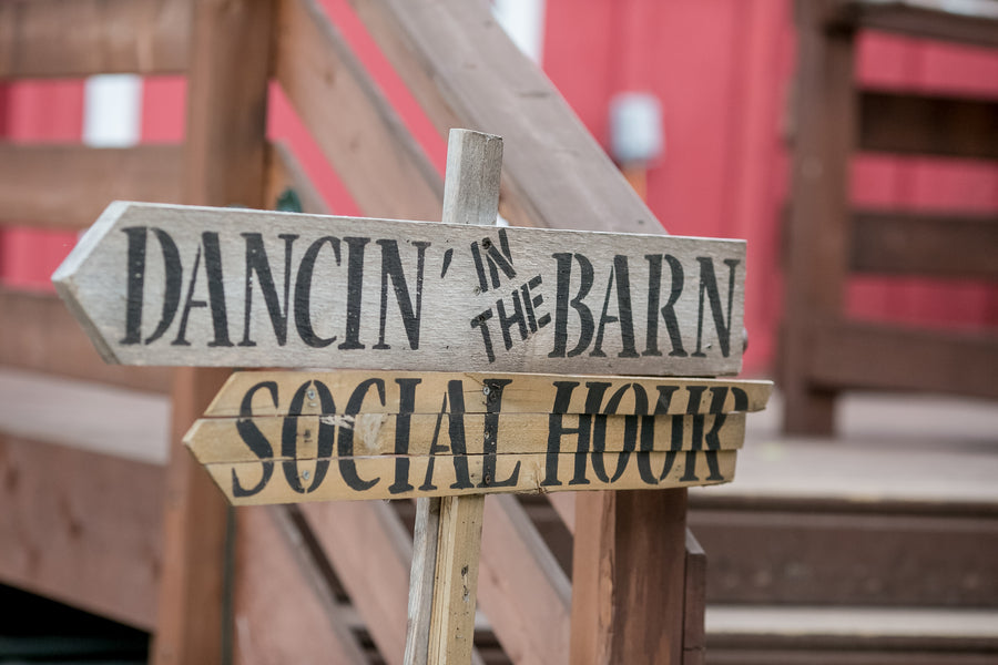 Dancing in the Barn Sign | Elegant Barn Wedding | Jeannine Marie Photography