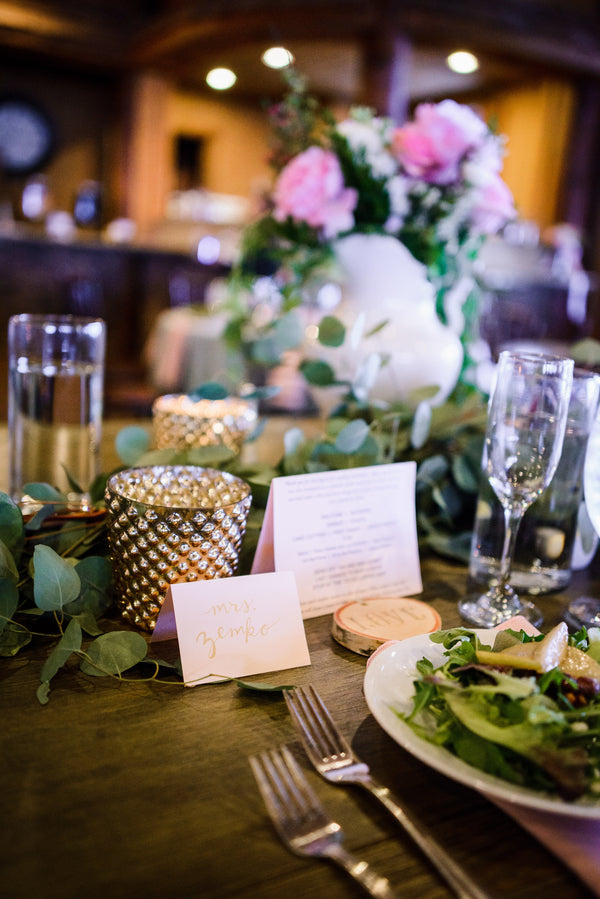 Reception Table | A Snowy Spring Wedding | Kate Aspen