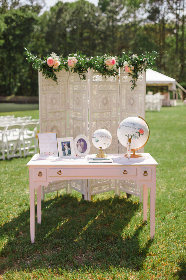 Decor Table | A Shabby-Chic Charleston Wedding | Kate Aspen