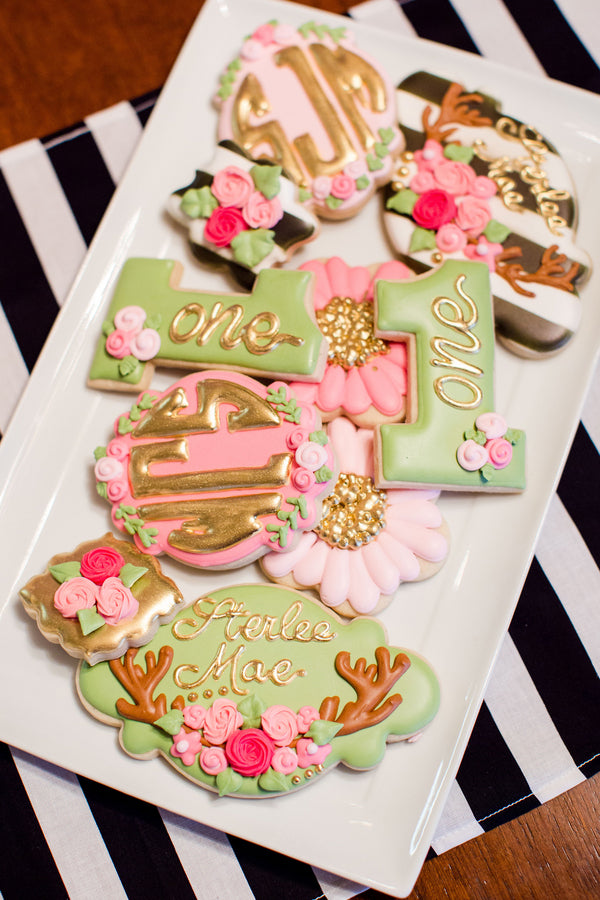 Decorative Cookies | First Birthday Party | Katie Woody Photography