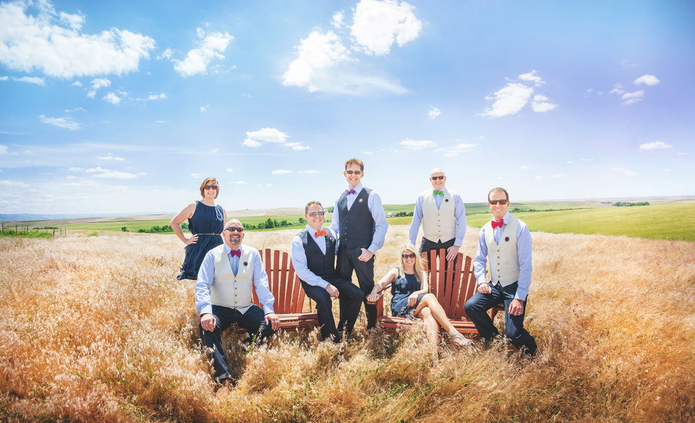 Casual Navy Bridal Party Attire | Mark VanDonge Photography