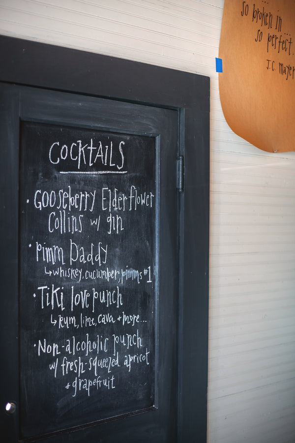 Weddign Drink Menu | Mark VanDonge Photography