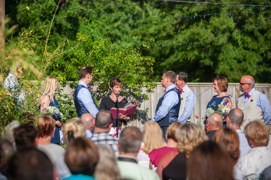 Outdoor Summer Wedding Ceremony | Mark VanDonge Photography