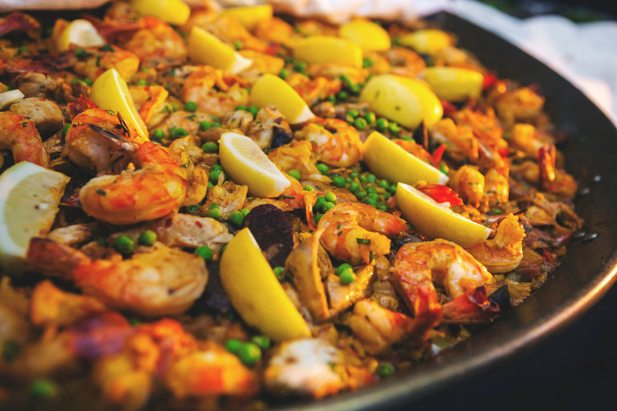 Wedding Menu Paella | Mark VanDonge Photography