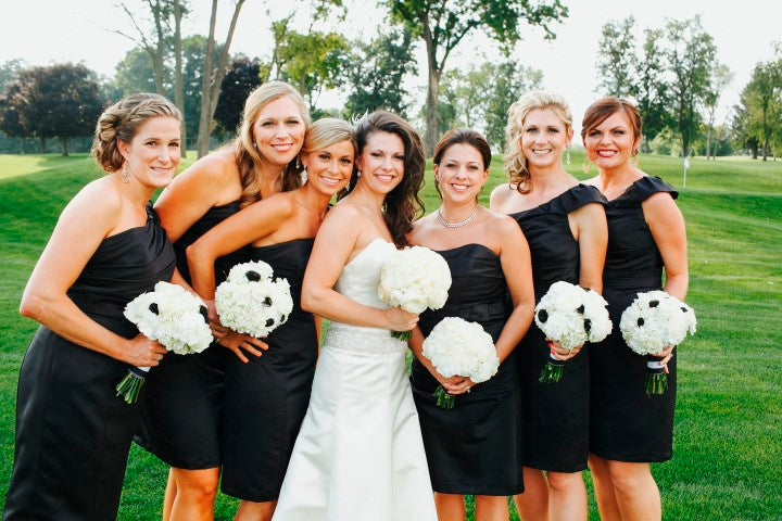 Black bridesmaid dresses | Derk's Works Photography