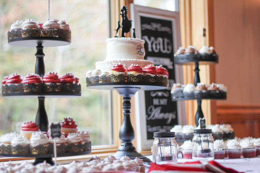 Dessert Bar | Vibrant Red Accents In A Stunning Fall Wedding | Wild and Wonderful Photography | Kate Aspen