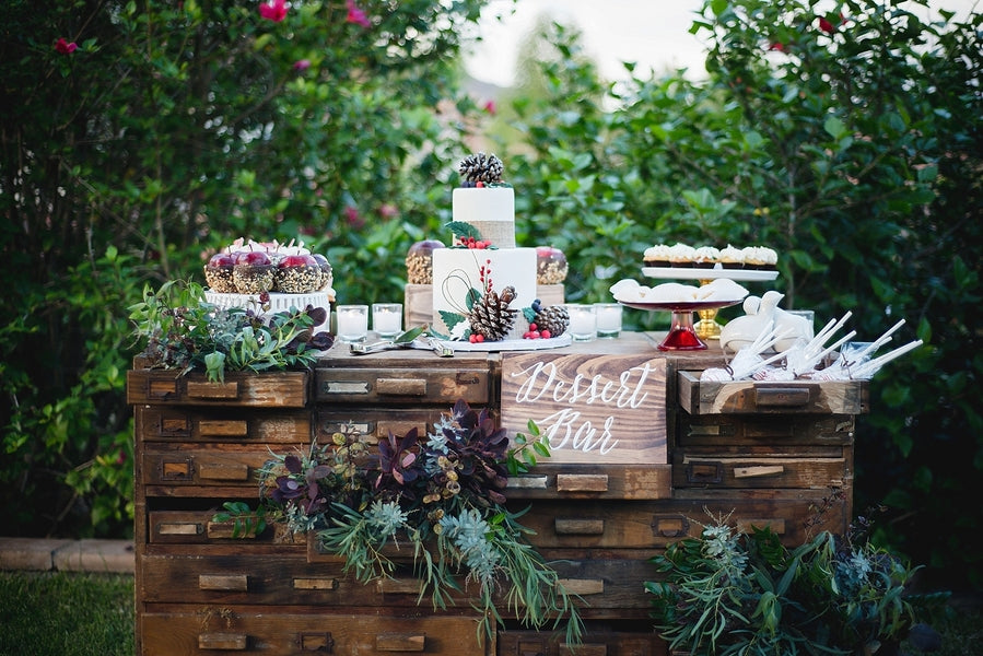Dessert Table| Winter Winery Wedding | Amy Millard Creative Studio