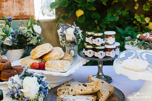 Biscuits Scones and Jam | English Garden Bridal Shower | Kate Aspen