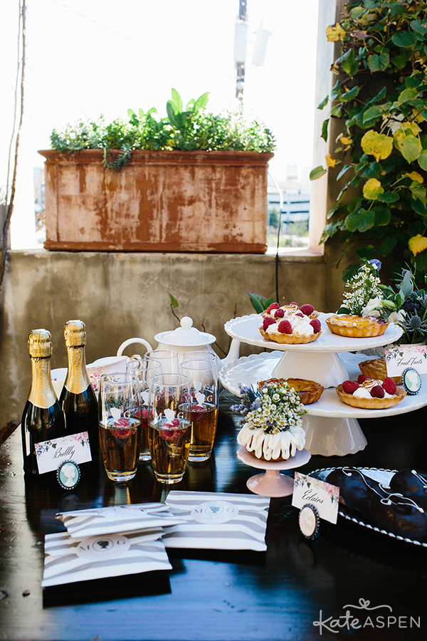 Desserts and Favors | English Garden Bridal Shower | Kate Aspen