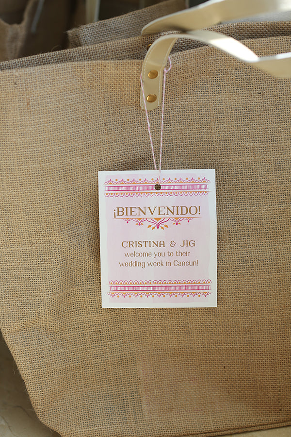 Wedding Welcome Bags | A Mexican Indian Fusion Wedding | Adrienne Fletcher Photography | @kateaspen