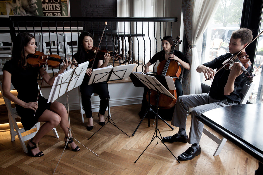 String Quartet | A Modern Classic Wedding | Rose Photo | Kate Aspen