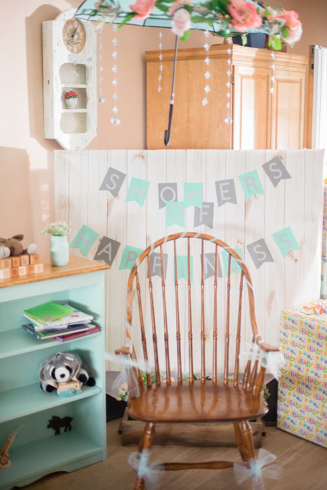 Baby Shower Decor | An April Showers Brings May Flowers Baby Shower | Kate Aspen