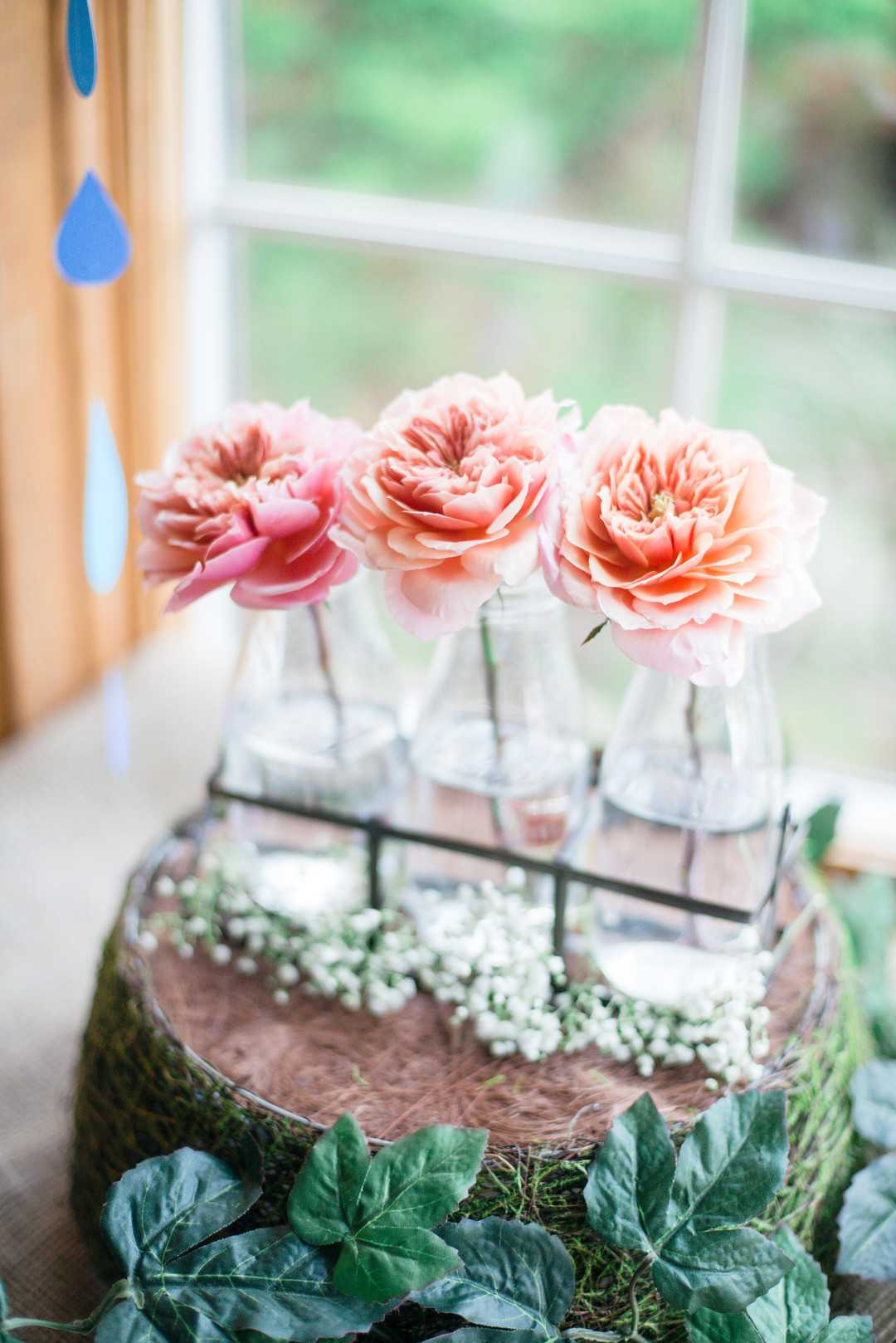 Floral Decor | An April Showers Brings May Flowers Baby Shower | Kate Aspen